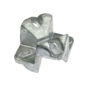 Kreuzschelle aus einem Guss ohne Drahtbügel, feuerverzinkt
