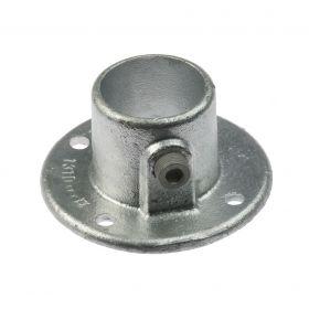 G131 Temperguss Fußplatte für Rohr (A10), feuerverzinkt