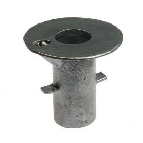 G134 Temperguss Bodenanker zum Einbetonieren für Rohr (A17) feuerverzinkt